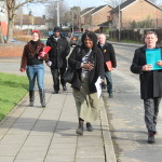 On campaign walk