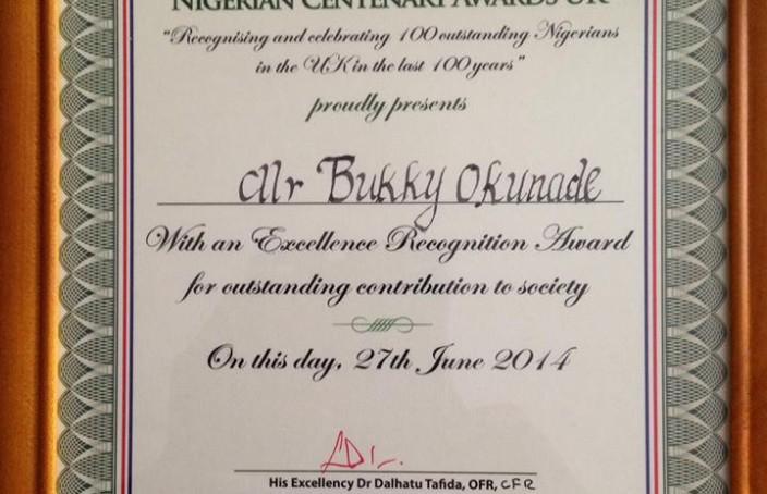 Centenary Award