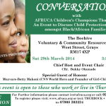 Conversations with AFRUCA Children's Champions Thurrock